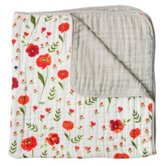 Summer Poppy baby quilt