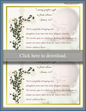 Cross and Baby Invitation