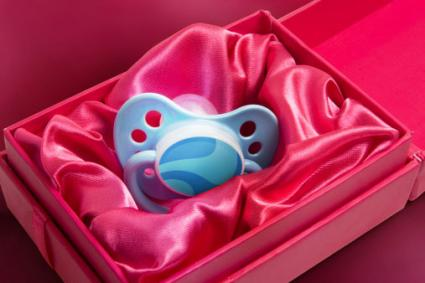 Pacifier in satin lined box