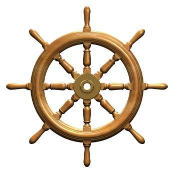 Pirate Ship Steering Wheel Tattoo