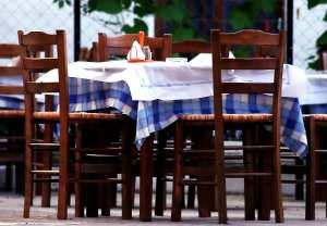 blue plaid tablecloth