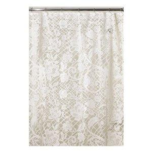 Holly champagne lace style voile panel, Voile Curtains