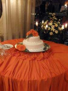 Round Orange Table Cloth