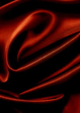 silky red material