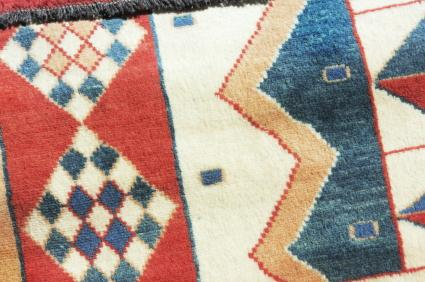 geometric designs on a Native American style blanket