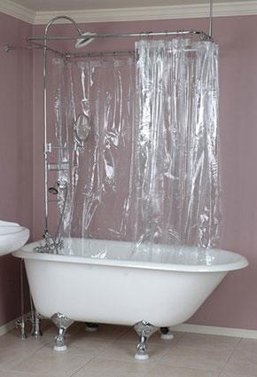 Claw Foot Tub Curtain Rod