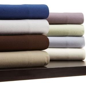 Pinzon 160-Gram Solid 100-Percent Cotton Flannel Sheet Set
