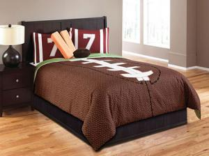 Touchdown 5-PC Twin Football Comforter Set From Hallmart