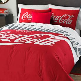 7pc Coca-Cola Logo Full Bedding Set