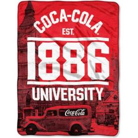 Coca-Cola London Micro Raschel Throw