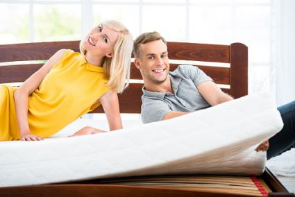 couple on a mattress