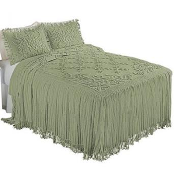 Cottage Charm Floral Lattice Chenille Bedspread