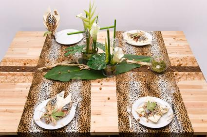 Natural theme table runner
