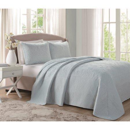 Laura Ashley Solid Floral Bedspread