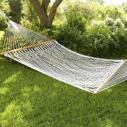 Brookstone Oversized Cotton Rope Hammock