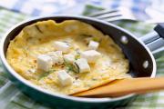Omelette with feta