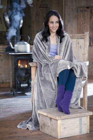 Heat Holders Thermal Fleece Blanket