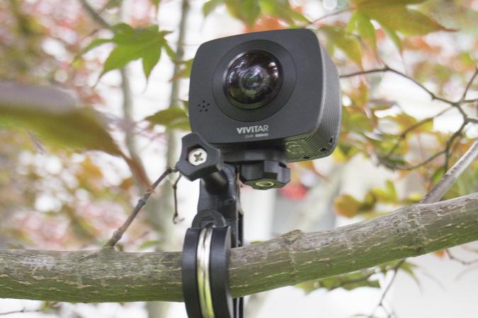 Vivitar action camera with mount