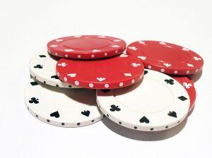 red and white poker chips