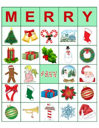 Merry Bingo Card