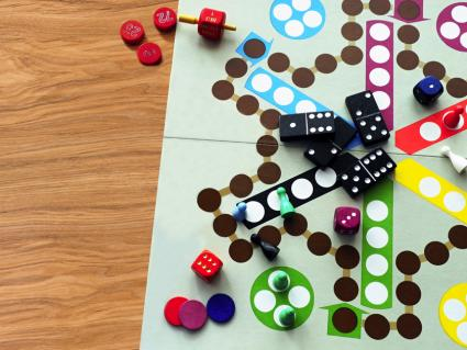 Aggravation style game board