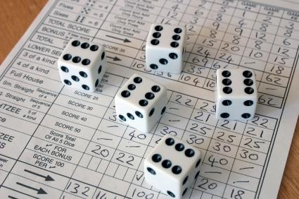 The offline version of Yahtzee
