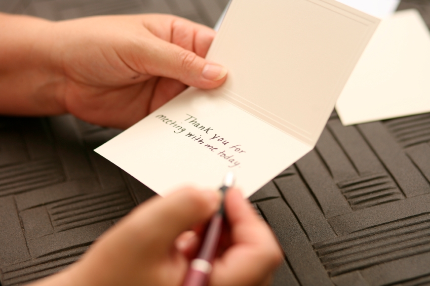 Writing A Thank You Note To The Boss