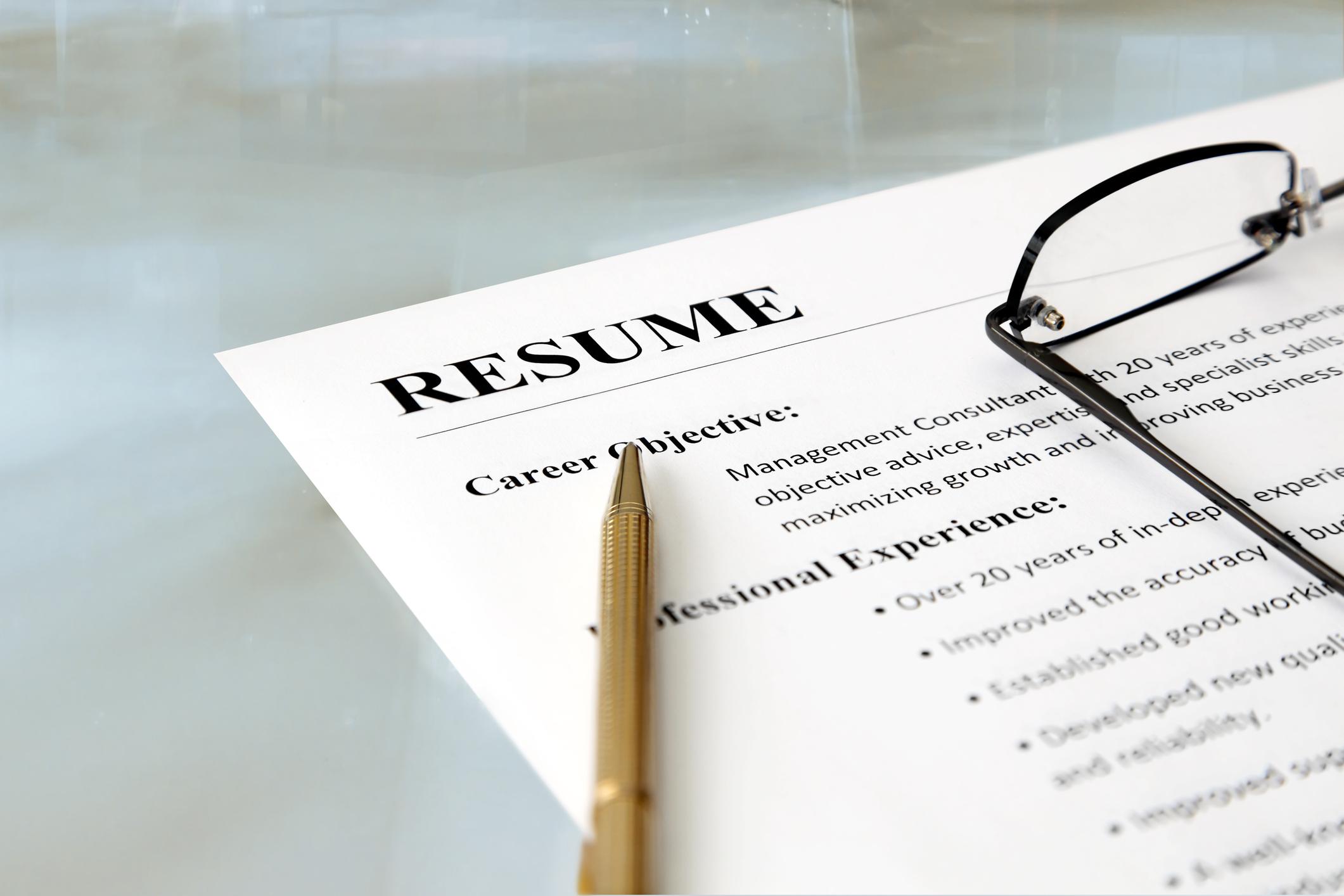 sample resume objectives for management