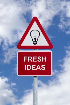 sign saying fresh ideas