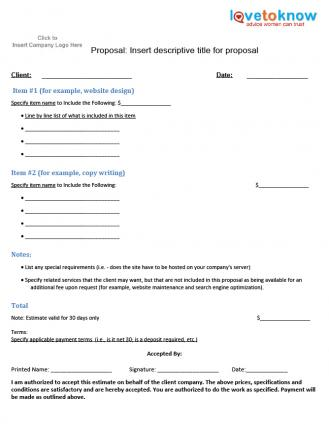 Download a project specific proposal template