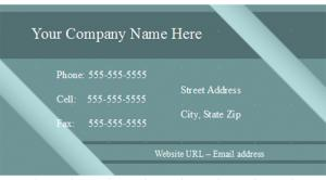 Blue Open Office Business Card Template