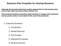 Business plan index