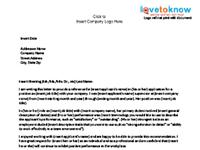 business reference letter - former employee template