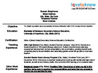 new teacher resume template 2