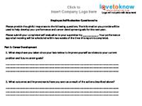 employee self evaluation questionnaire