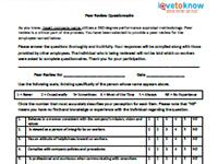 peer review questionnaire