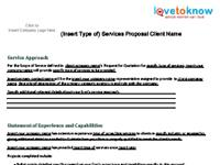 business services proposal template