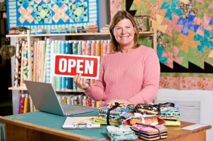 Quilt shop owner