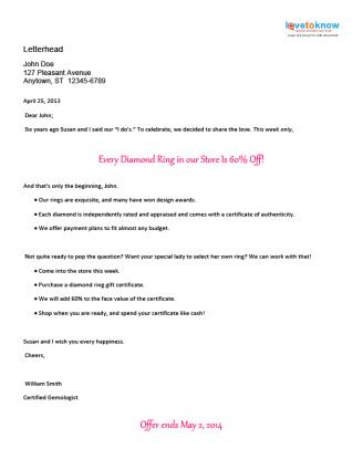 Marketing business letter sample sample business letter for Short sale marketing letter