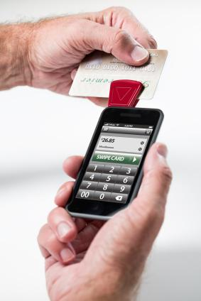 Processing a credit card with a mobile phone