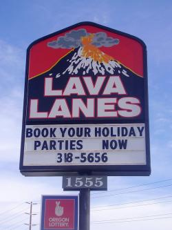 Lava Lanes sign