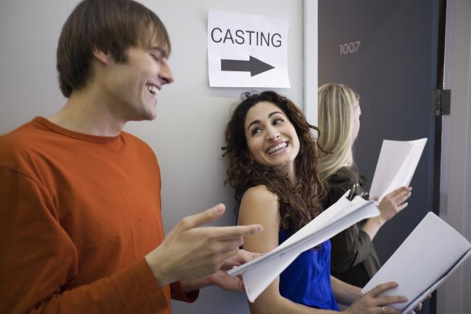 Actors waiting with resumes