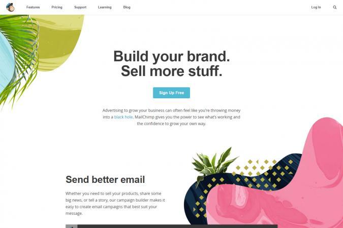 Screenshot of MailChimp