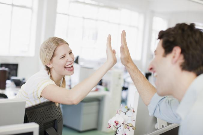 Office high five