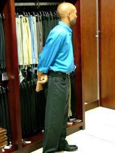 customer service in the suit department
