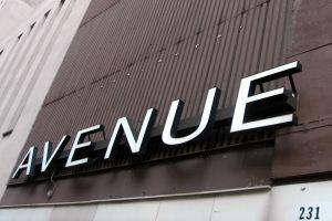 Avenue Business Name Sign