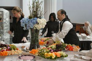 caterers at work