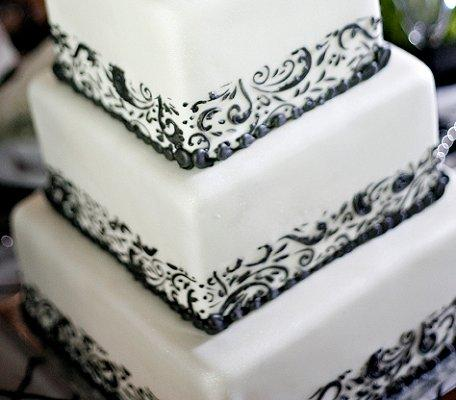 Pin Wedding Stencil Cake Ideas And Designs