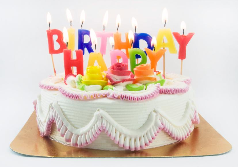 Gallery For gt Square Birthday Cake With Candles