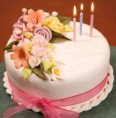 Decorate Cake With Fondant Flowers : Fondant flowers cake decorating